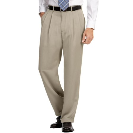 perry ellis mens cuffed double pleat dress pants Twill Double Pleat Pants