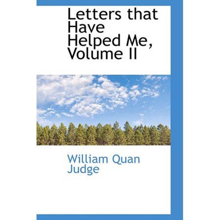 Letters That Have Helped Me  Volume Ii