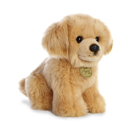 Golden Retriever Pup Miyoni Tots 11 Inch Stuffed Animal by Aurora Plush (Pup Retriever)