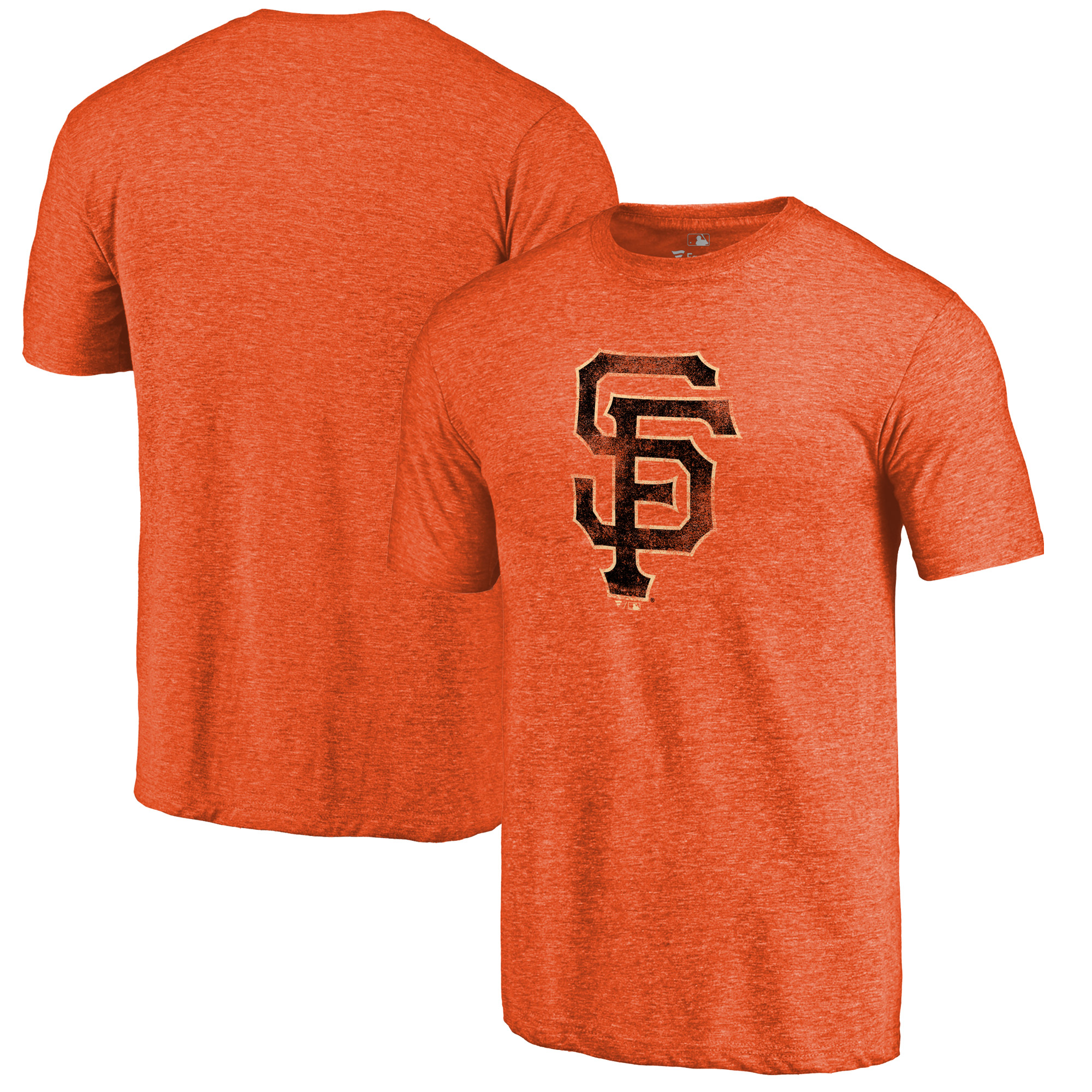 San Francisco Giants Distressed Team Tri-Blend T-Shirt - Heathered Orange