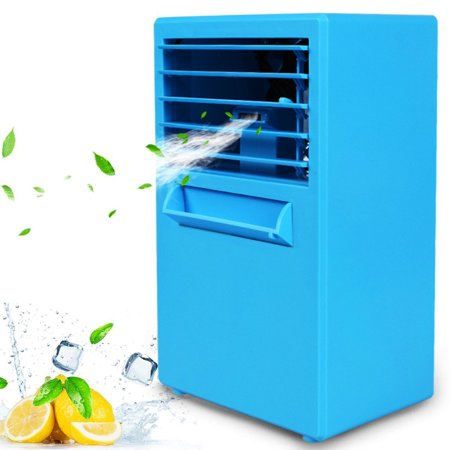 Portable Air Conditioner Fan, 9.5-inch Small Computer Desktop Fan Quiet Personal Misting Fan Mini Evaporative Air Cooler Circulator Humidifier for Office, Dorm, Nightstand