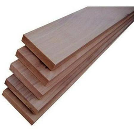 Alexandria Moulding 511774 1 x 4 in. x 3 ft. Poplar Hardwood Board - White