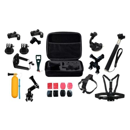 22cc0bd563 GoPro nbsp 23 Piece Accesorry Kit Accessories Outdoor Sports Bundle Kit for  GoPro Hero 4 3+ 3 2 1 Cameras - Walmart.com