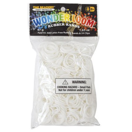 White rubber bands for the Wonder Loom from The Beadery