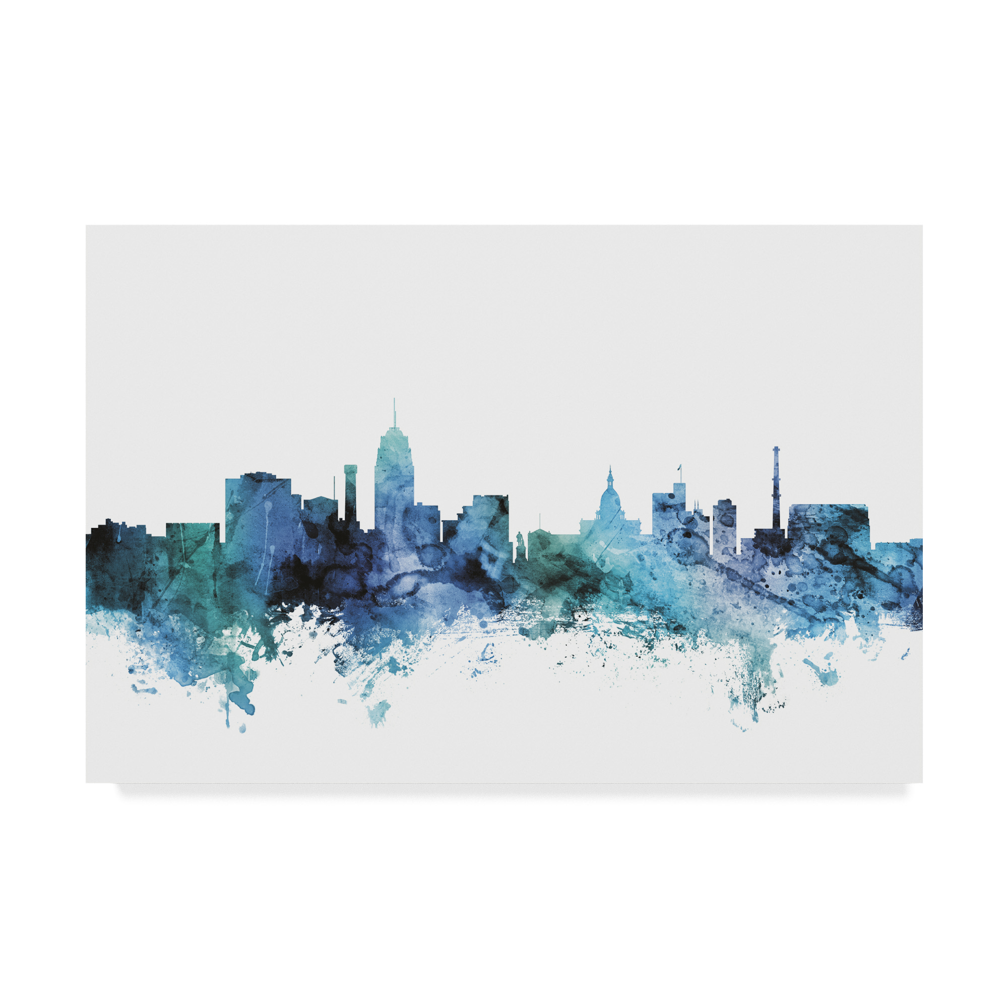 Lansing Michigan Watercolor Skyline Wall Art Home Decor Poster Unframed Art Art Posters