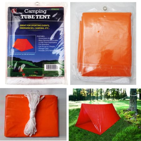 2 Person Shelter (2 Persons Tube Tent Emergency Survival Hiking Camping Shelter Outdoor Portable)