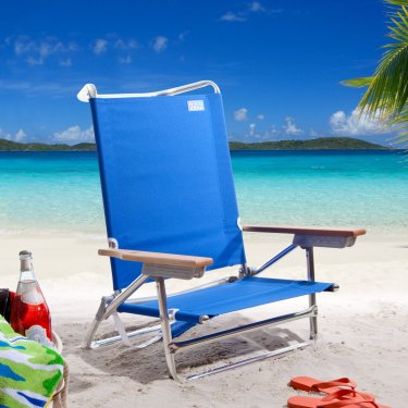 Rio Blue Deluxe Sand Beach Chair
