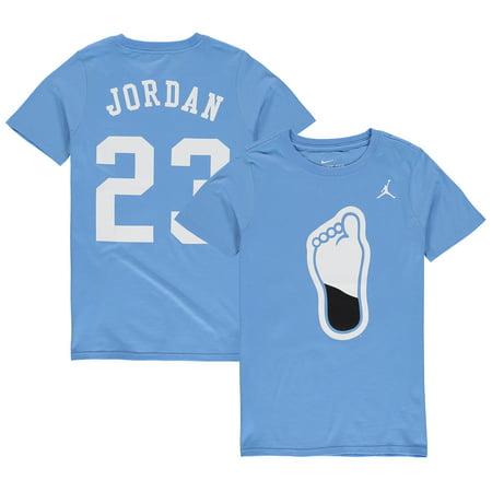 Wholesale Nike Jordans (Michael Jordan #23 North Carolina Tar Heels Nike Youth Name & Number T-Shirt - Carolina Blue)