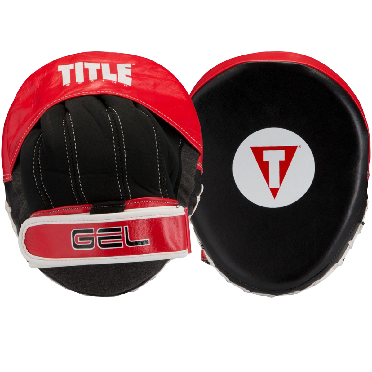Title Boxing Gel Vortex Micro Contoured Punch Mitts - Black/Red