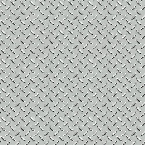 Blue Mountain Steel Floor Wallcovering, Metallic Silver