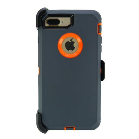 big sale a7620 2dee8 WallSkiN Turtle Series Case for iPhone 7 Plus / iPhone 8 Plus (Only) Full  Body Protection with Kickstand & Holster - Belt Clip Works with Otterbox ...