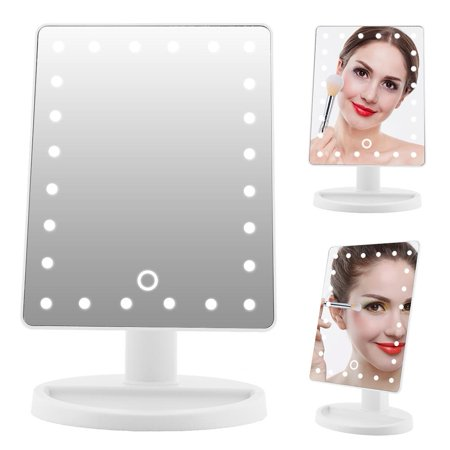 EOTVIA 10X Manifying Makeup Mirror,24LED 10X Manifying Cosmetic Mirror Touch Screen Battery Power Supply Makeup Mirror