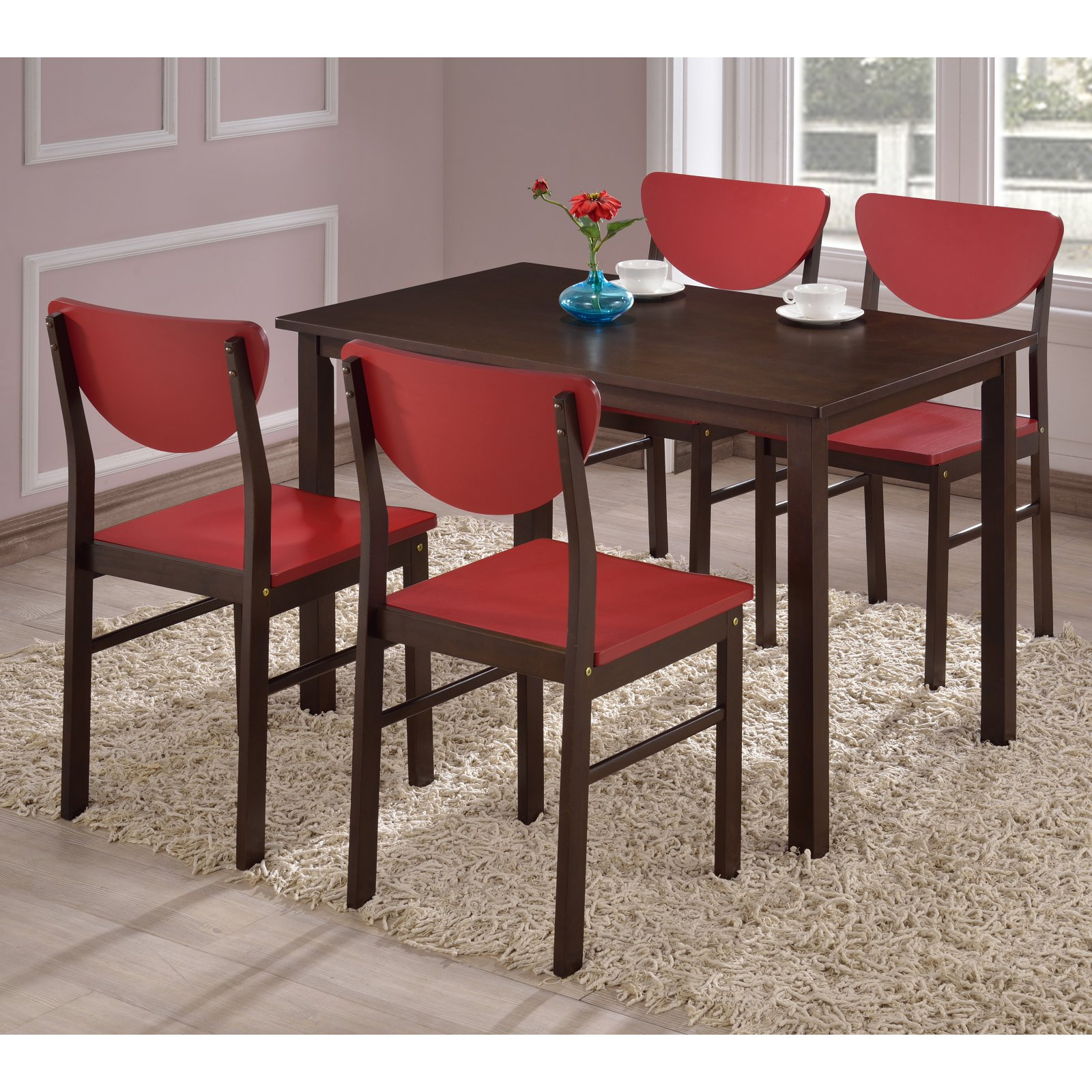 K & B Furniture Rutland Dining Table - Walnut