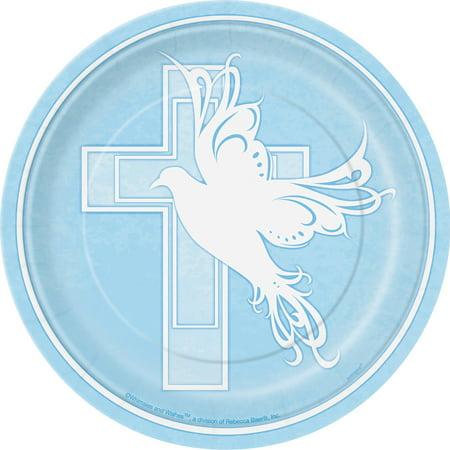 Blue Dove Cross Baptism Christening Communion 8 ct 7\