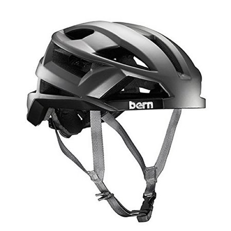 bern fl-1 mips summer mens helmet 2016 large satin silver grey road urban (Best Mips Road Bike Helmet)
