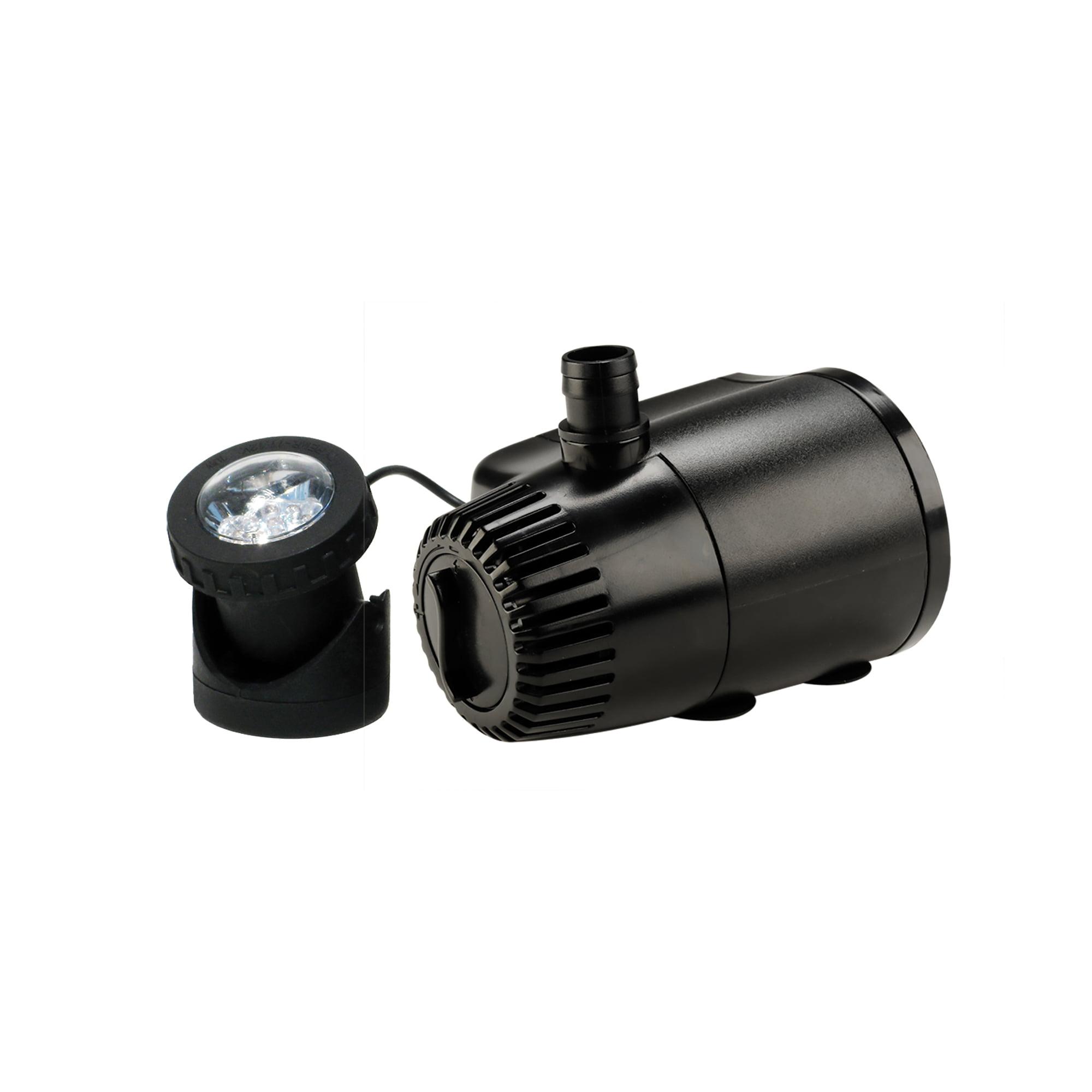419 GPH Auto Shut-off Fountain Pump plus Light