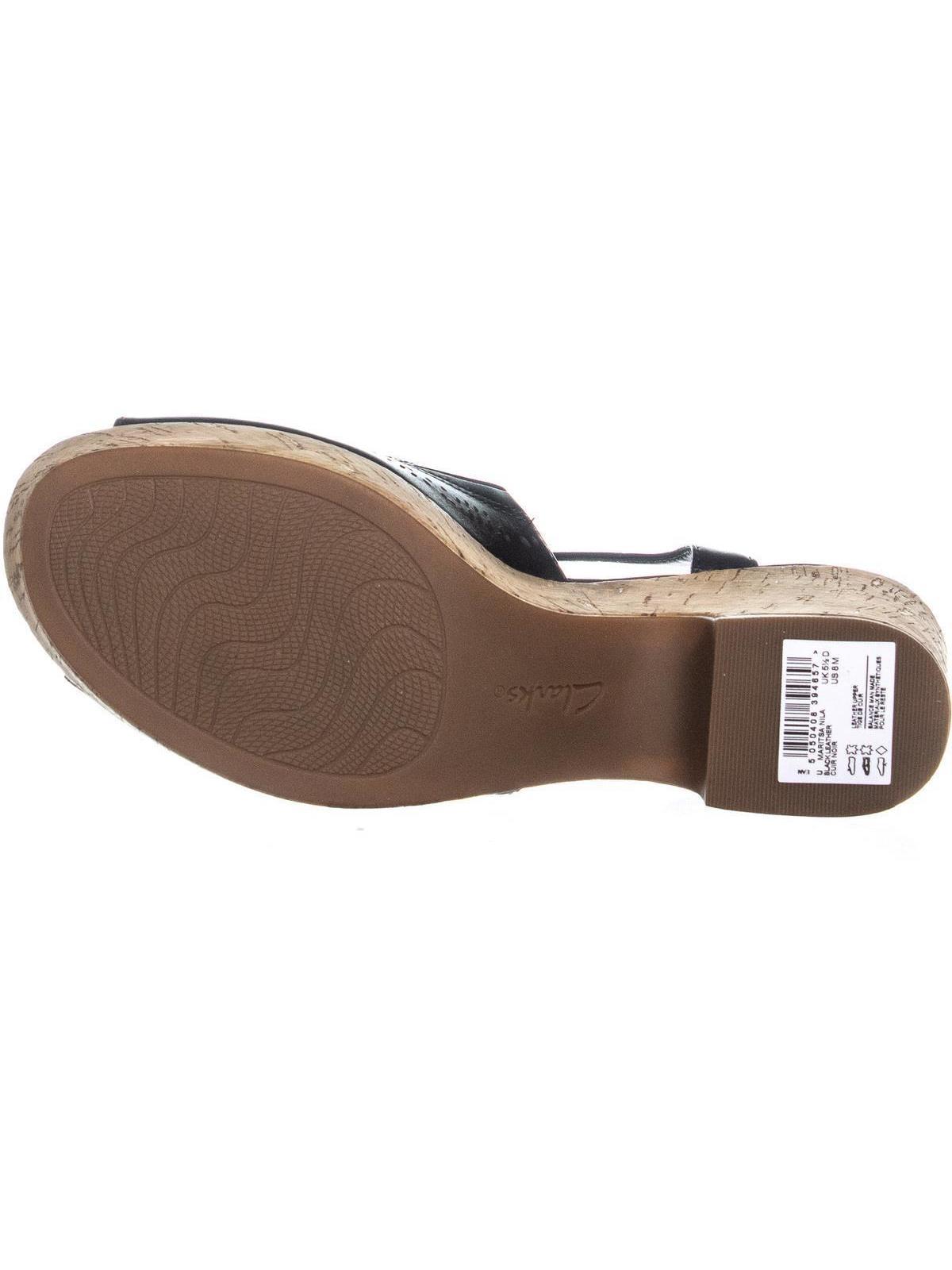 05dd08989f4 Clarks Maritsa Nila Perforated Peep Toe Sandals