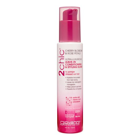 Thick Cherry (Giovanni 2chic Ultra-Luxurious Leave-In Conditioning & Styling Elixir, Cherry Blossom & Rose Petals, 4.0)