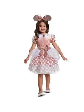 Disguise Disney Minnie Toddler Classic Rose Gold Minnie Mouse Halloween Costume