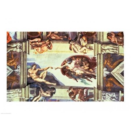 Sistine Chapel Ceiling Creation of Adam 1510 Poster Print by Michelangelo Buonarroti - 24 x 18 in. - image 1 of 1