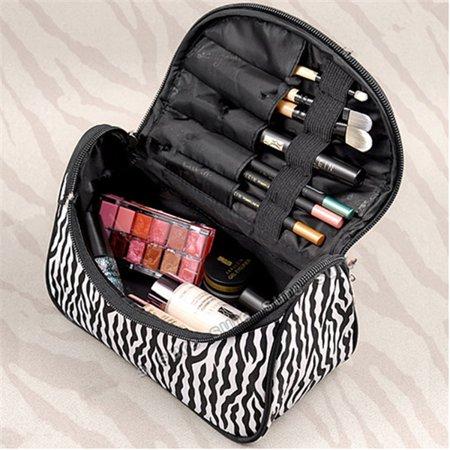 StyleZ Fashion Zebra Pattern Lady Makeup Bag Women Portable Cosmetic Toiletry Bags Travel Storage Organizer ,Black Friday Big