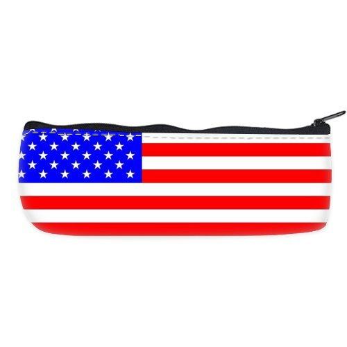 POPCreation Beautiful American Flag School Pencil Case Pencil Bag Zipper Organizer Bag