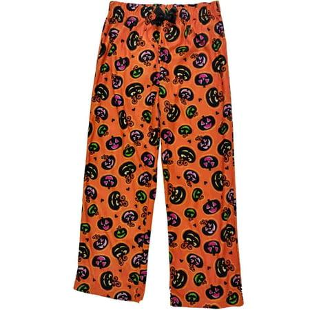 Girls Orange Pumpkin Jack O'Lantern Sleep Pant Halloween Flannel Pajama Bottoms](Jack Halloween Pumpkin)