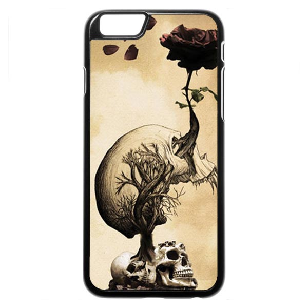 Skull Growing A Rose iPhone 6 Case