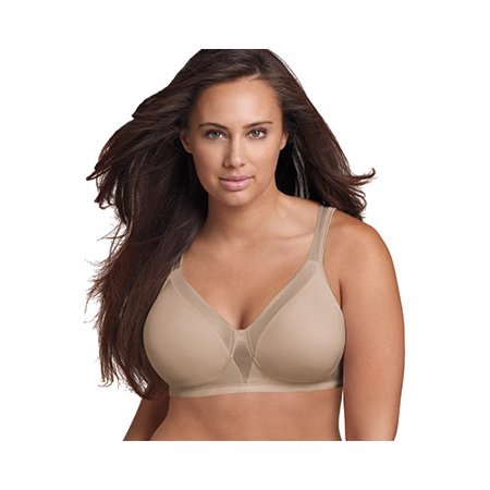 Women's 18 Hour Sensationally Sleek Wirefree Bra, Style 4803 - Plus Size Nude Women