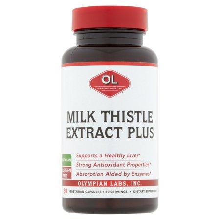Olympian Labs Milk Thistle Extract Plus 60 Vegetarian Capsules