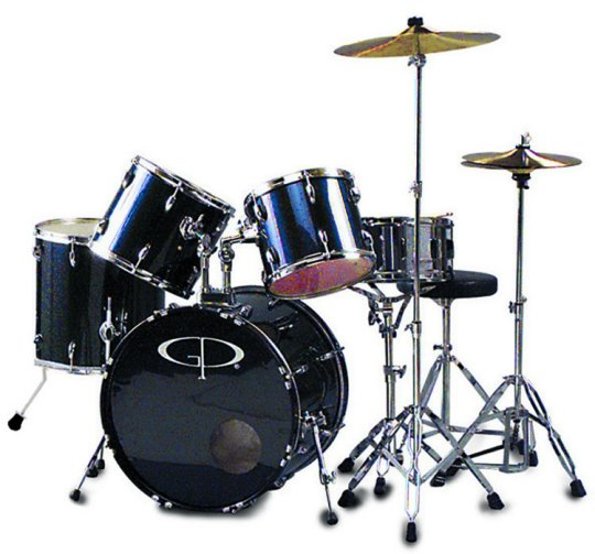 "GP Percussion ""Performer"" 5 Piece Full Size Drum Set by GP Percussion"