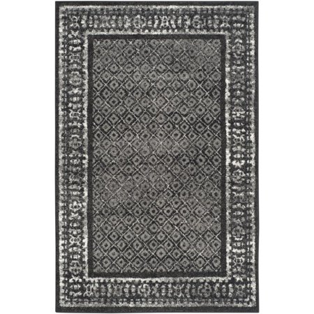 "Safavieh Adirondack 2'6"" X 6' Power Loomed Rug in Black and Silver - image 3 de 3"