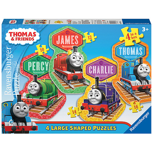 Ravensburger Thomas and Friends: 4 Friends Shaped Floor Puzzles, 10, 12, 14 and 16 Pieces