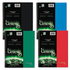 Genesis Notebook, College Rule, 11 x 9, 1 Subject,  Assorte
