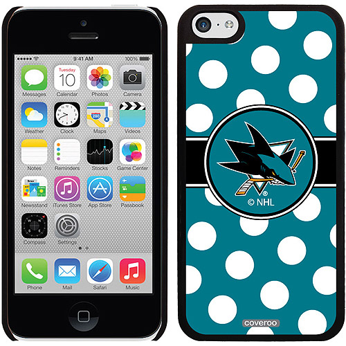 San Jose Sharks Polka Dots Design on iPhone 5c Thinshield Snap-On Case by Coveroo