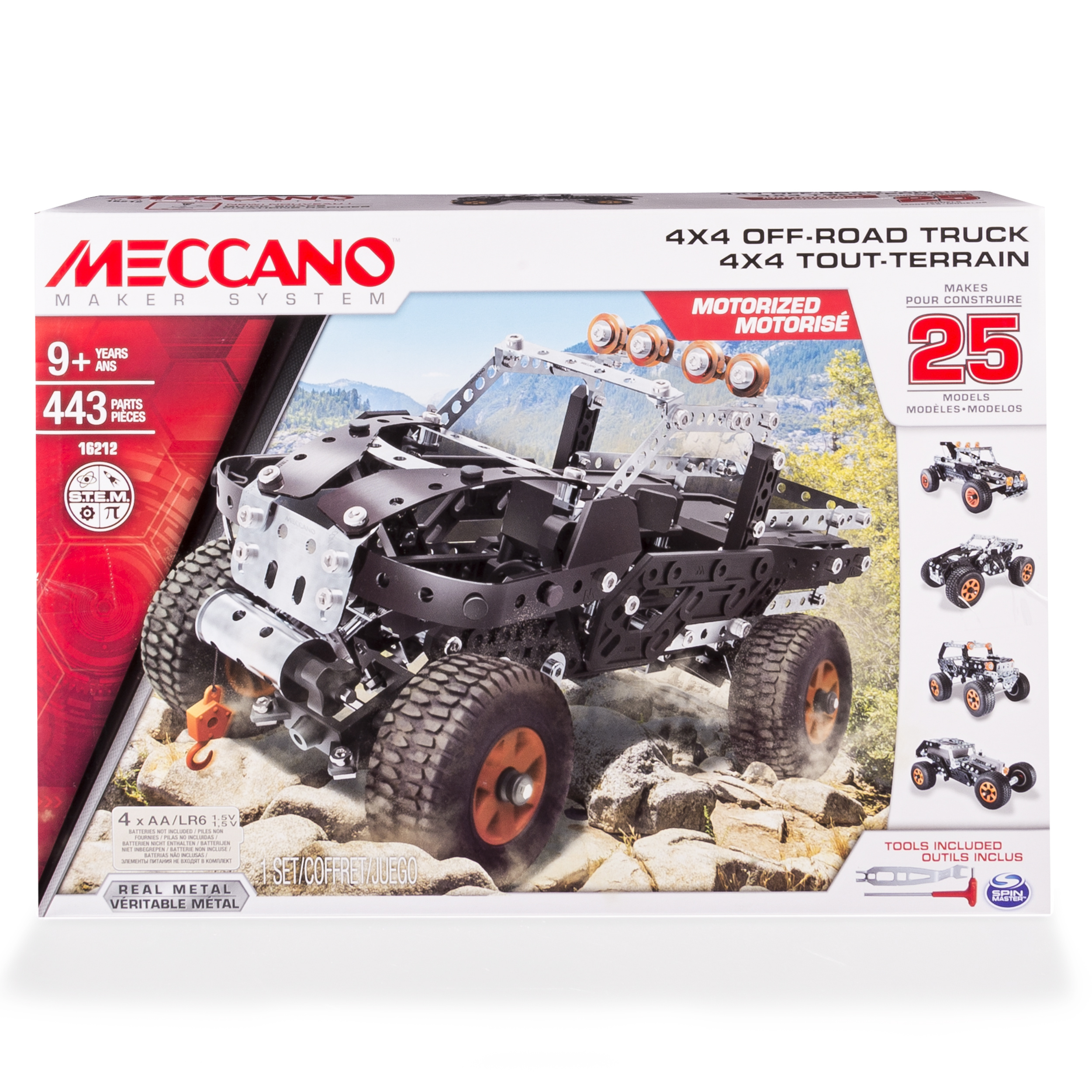 Meccano - 25 Models Set - 4x4 Off-Road Truck