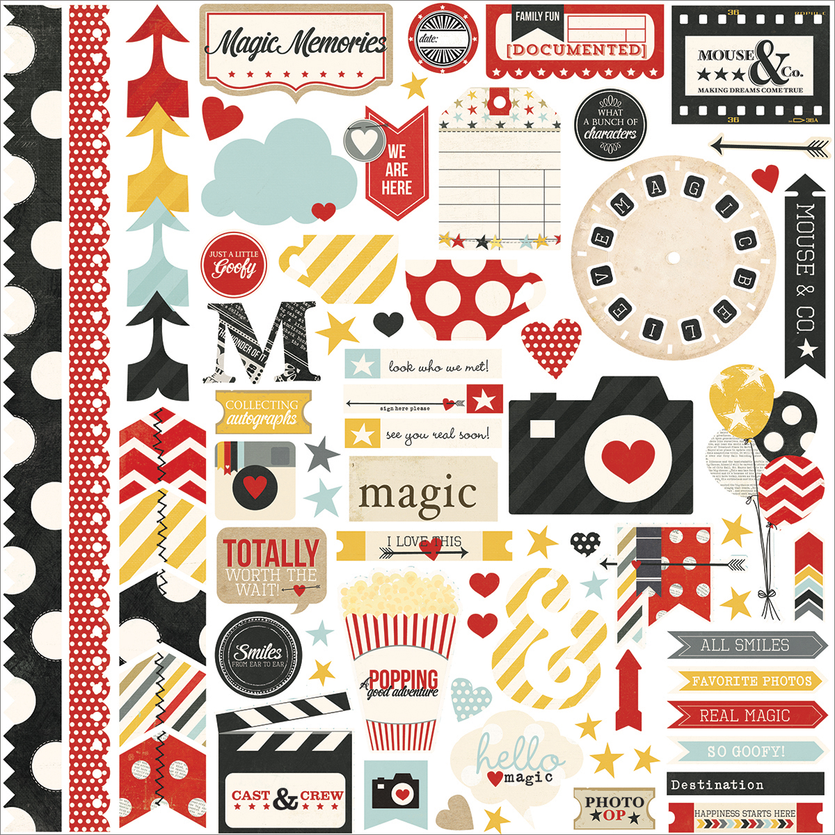 "Say Cheese Cardstock Stickers 12""X12""-Fundamentals"