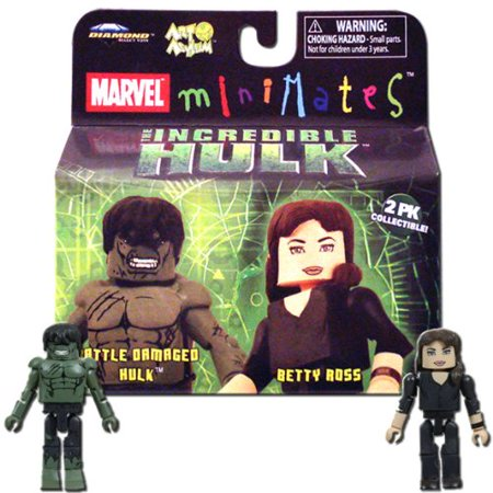 Marvel MiniMates The Incredible Hulk Movie 2-Pack Battle Damaged Hulk and Betty Ross - image 1 of 1