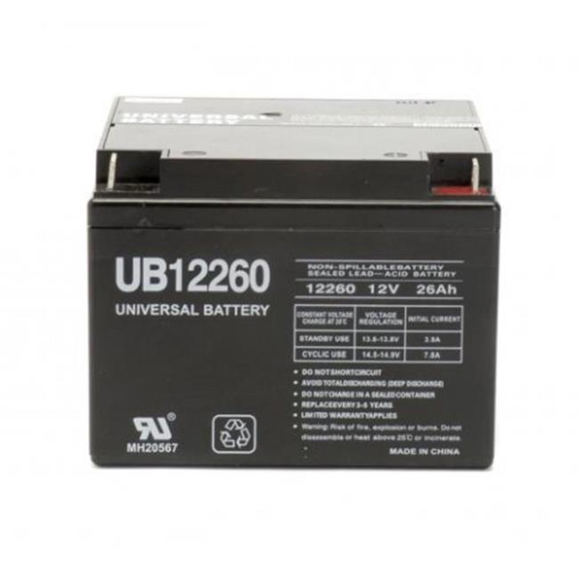 Ereplacements UB12260-ER Sealed Lead Acid Battery