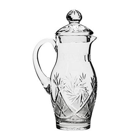 Neman Glassworks, 35-Oz Vintage Russian Crystal Pitcher / Carafe, Old-fashioned