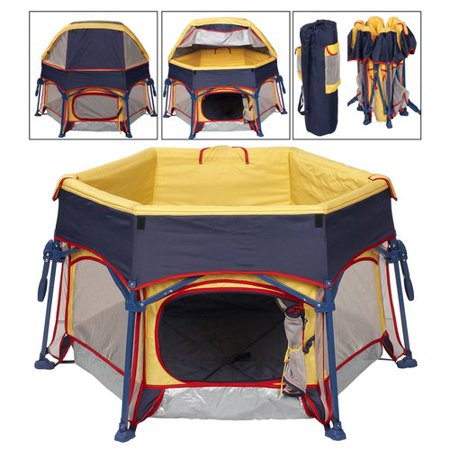 Cover Capacity Pet Fence Dog Kennel Play Pen Puppy Soft Playpen Tent Exercise Run Cage Folding Crate