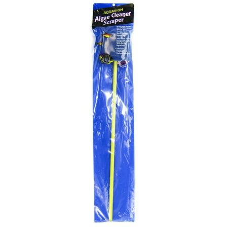 Algae Scraper Acrylic (Blue Ribbon Pet Products Blue Ribbon Aquarium Algae Cleaner Scraper Double Sided Algae Pad On)