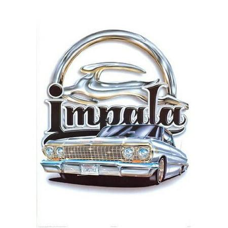 Hot Stuff 1081-08x10-LO 8 x 10 in. Impala Logo Lowrider Poster Print