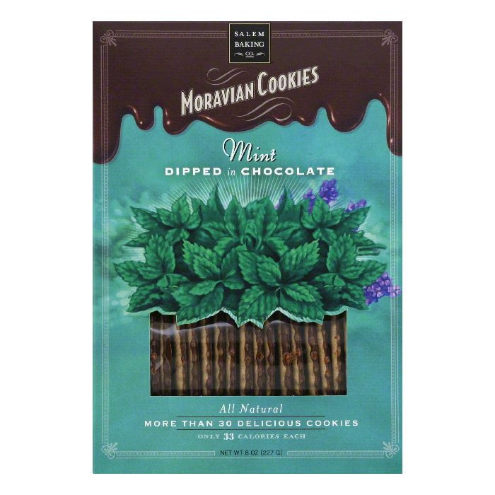 SALEM BAKING COOKIE MORVN MINT CHOCOLATE DIPPED, 8 OZ (Pack of 6)