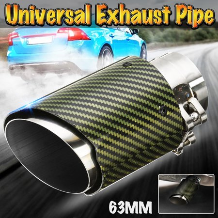 2.5'' 63mm Green Real Carbon Fiber Exhaust Muffler Tip End Tail Pipe Universal