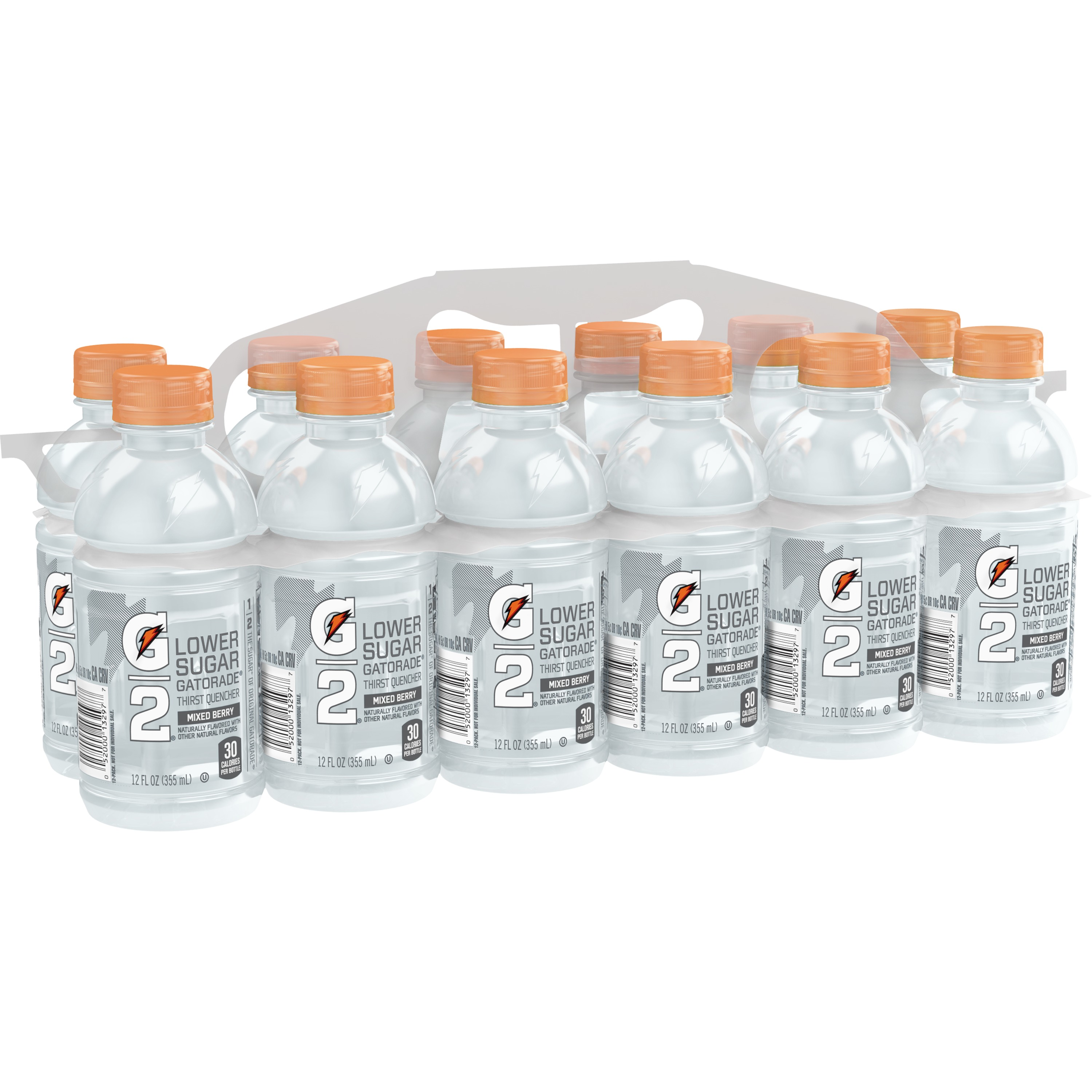 G2 Lower Sugar Gatorade Thirst Quencher Sports Drink, Mixed Berry, 12 Fl Oz, 12 Count