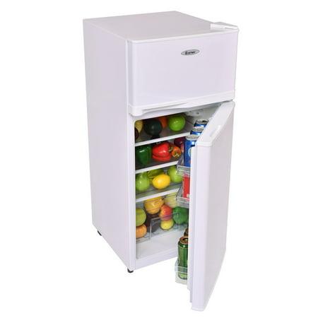 1ca9ff93495 Costway 2 Doors 3.4 cu ft. Unit Compact Mini Refrigerator Freezer Cooler -  image 1 ...