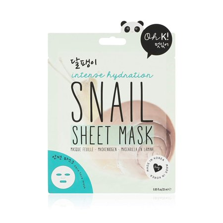 ! Korean Snail Mucin Fiber Face Mask, Snail fiber mask is formulated to give intense hydration to tired skin By Oh