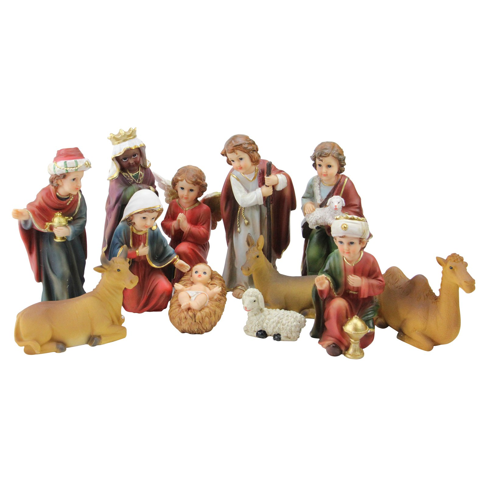 Northlight 12 Piece Religious Childrens First Christmas Nativity Set
