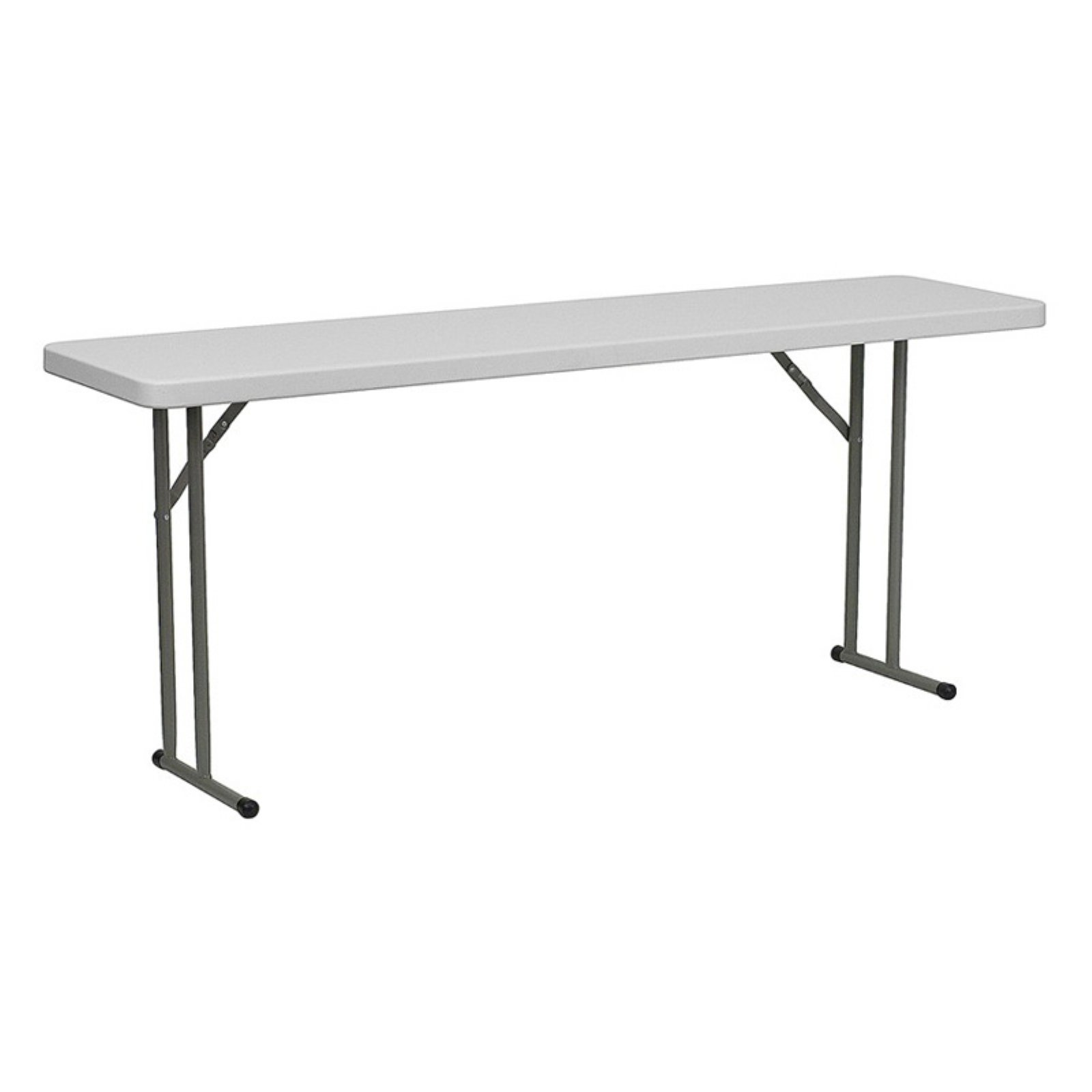 "Flash Furniture 18"" x 72"" Plastic Folding Table, White by Generic"